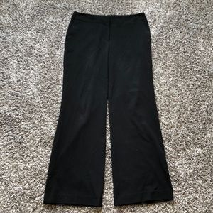 Flared Black Dress Pants with Pockets